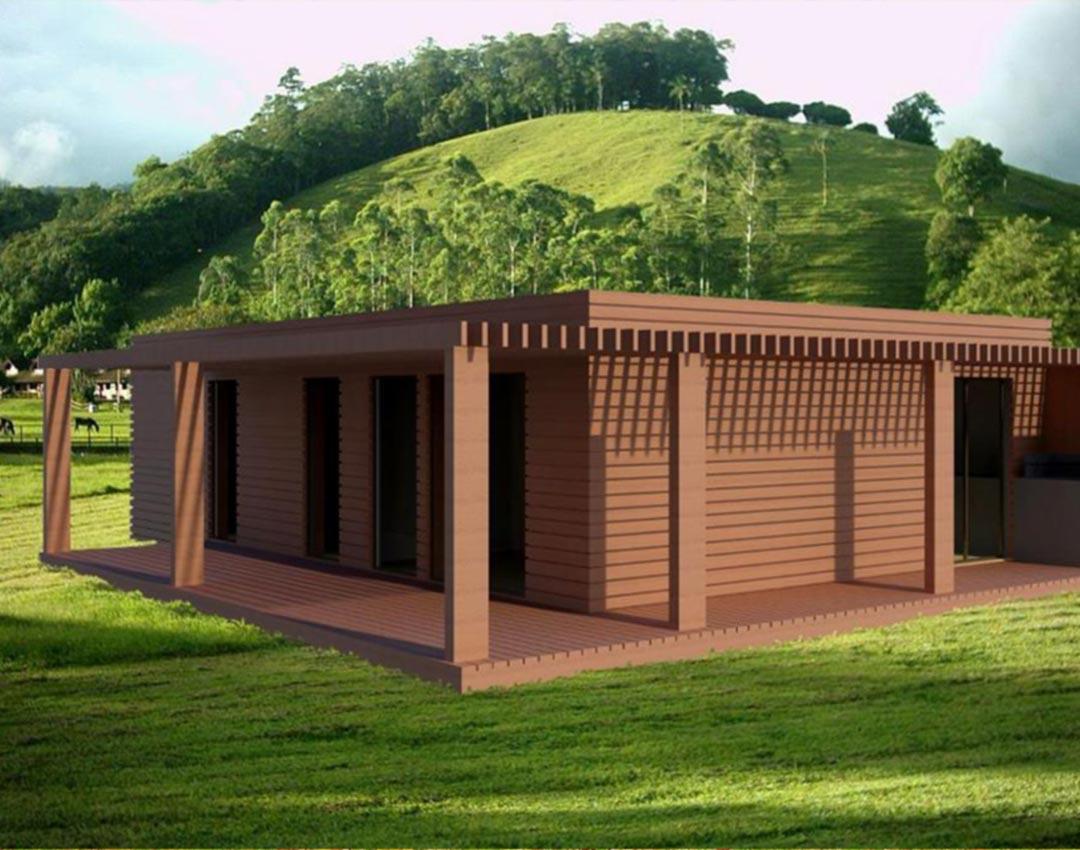 M dulos true house casas de madeira - Modulos de casas ...